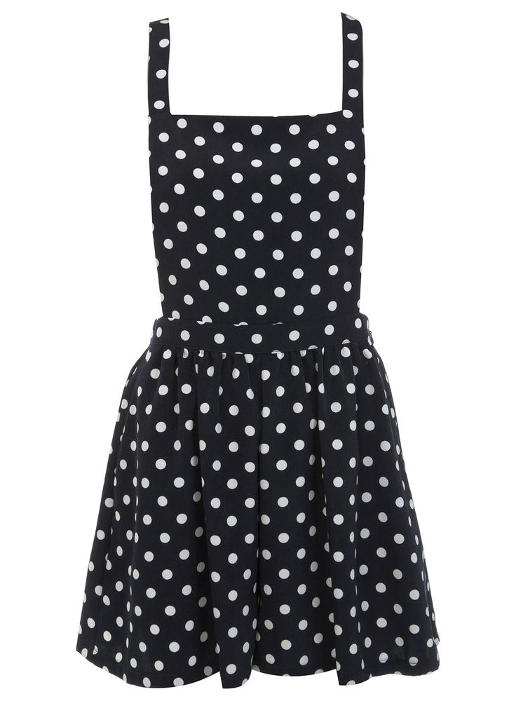 Spotted pinafore playsuit <3
