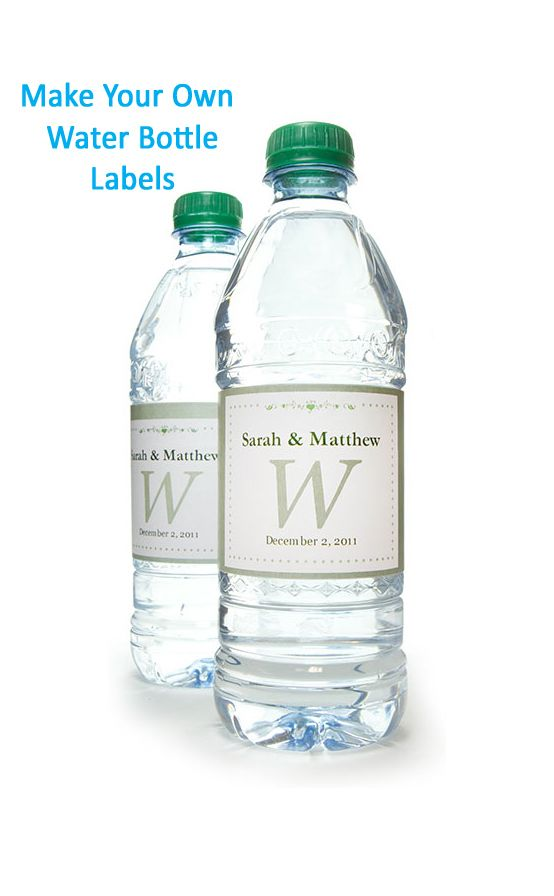 Make your own water bottle labels, see how easy it is!  #labels #waterbottlelabels #customwater #makeyourown #diy #partyfavors