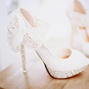 lace wedding shoes by DaisyCombridge.. on the beach, but great for after with the short dress!