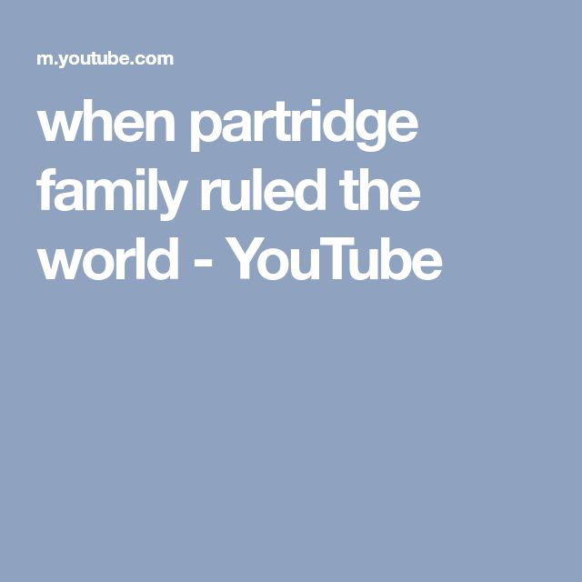 when partridge family ruled the world - YouTube