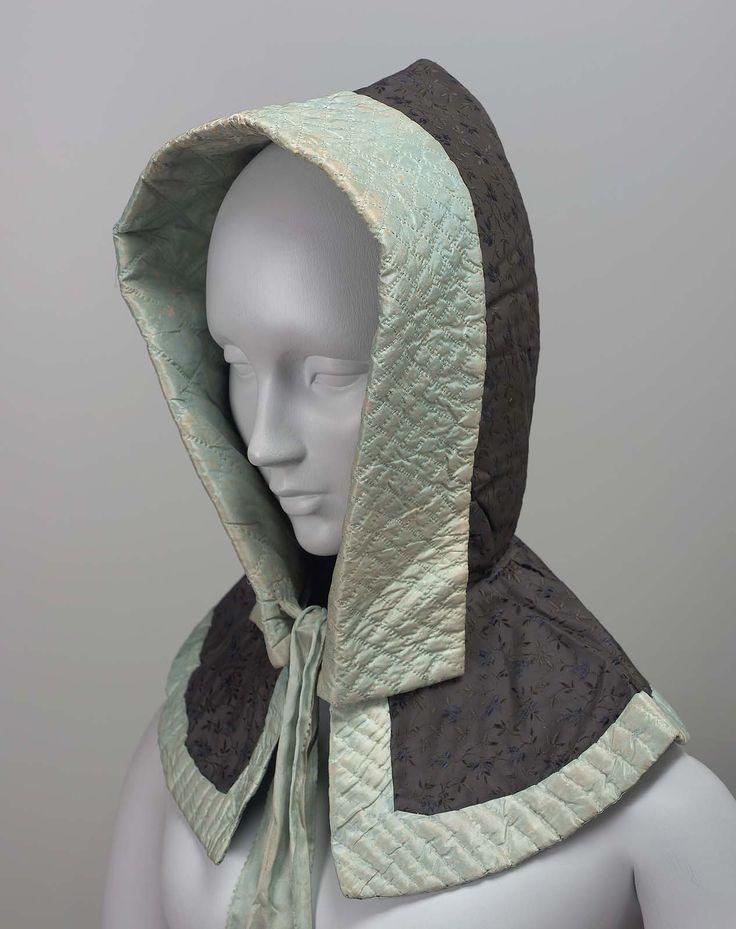 1850-1860's Woman's hood | Museum of Fine Arts, Boston