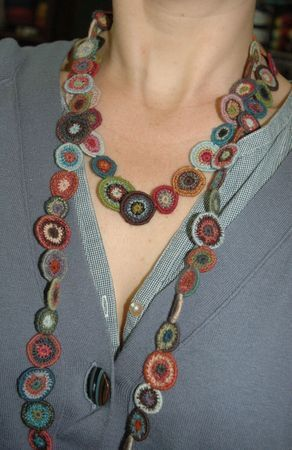 crochet - necklace by Sophie Digard - I love the muted colours she always seems to use