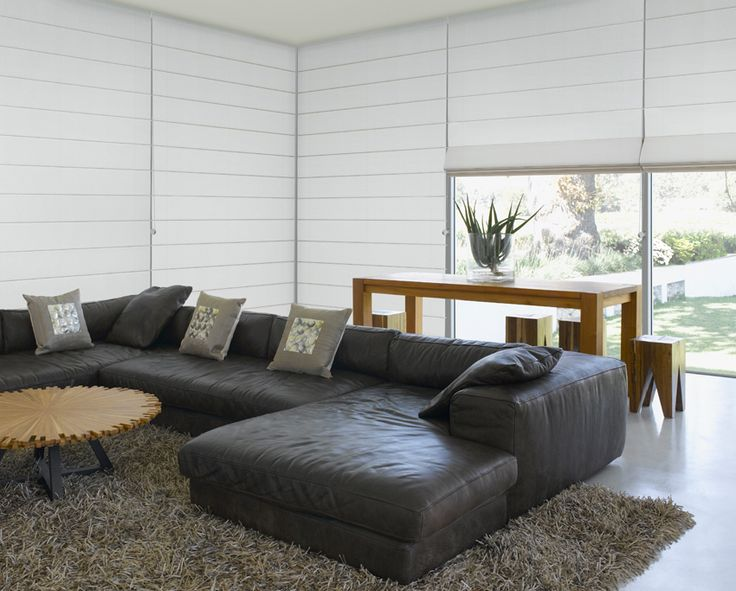 Luxaflex Roman Shades Have A Contemporary Look And Feel