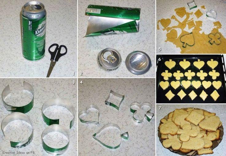DIY Sunday: creatief recyclen bierblikje als koekvormpjes