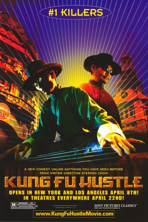 """Kung Fu Hustle"" poster. Stephen Chow's film is a quirky and clever martial arts comedy."