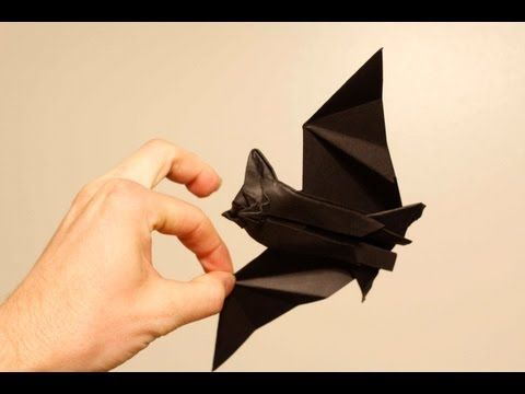 origami bat tutorial part1 its cute and it can
