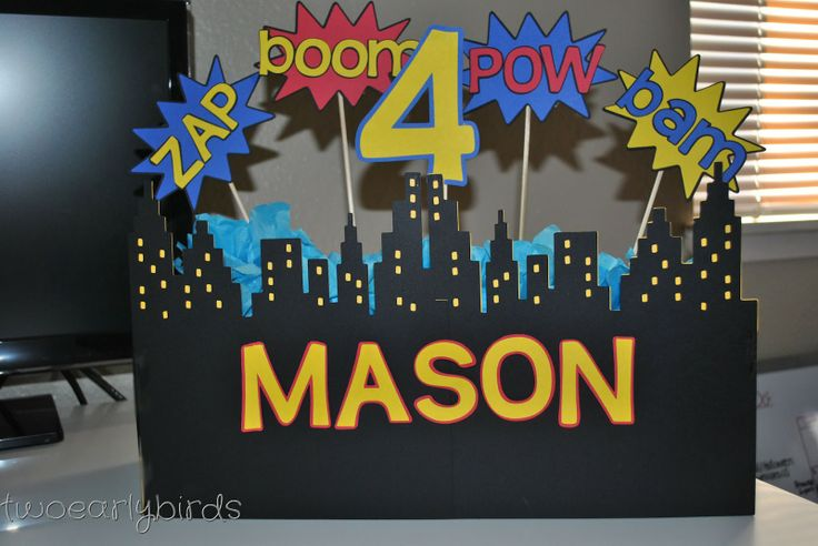 Two Early Birds: A Superhero Birthday Party Centerpiece