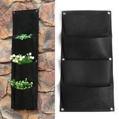 50L Large Capacity Potato Grow Planter PE Container Bag Pouch Tomato Deep Root Side Window Garden - Newchic Mobile.