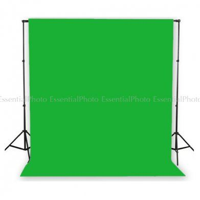 PIXAPRO Studio Telescopic Background Stand and 3x6m Muslin Cotton Green Drop. The PIXAPRO heavy duty Telescopic background stand system is sturdy and reliable, and can be used with muslin backdrops or with seamless paper backdrops.