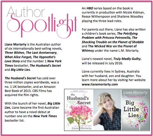 Check out this week's #AuthorSpotlight: #LianeMoriarty #australian #newyorktimesbestseller #biglittlelies #hbo