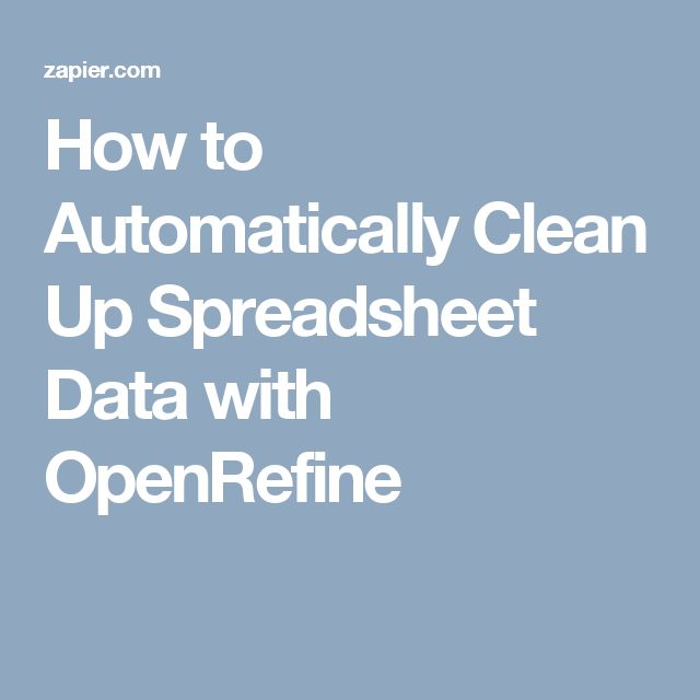 How to Automatically Clean Up Spreadsheet Data with OpenRefine