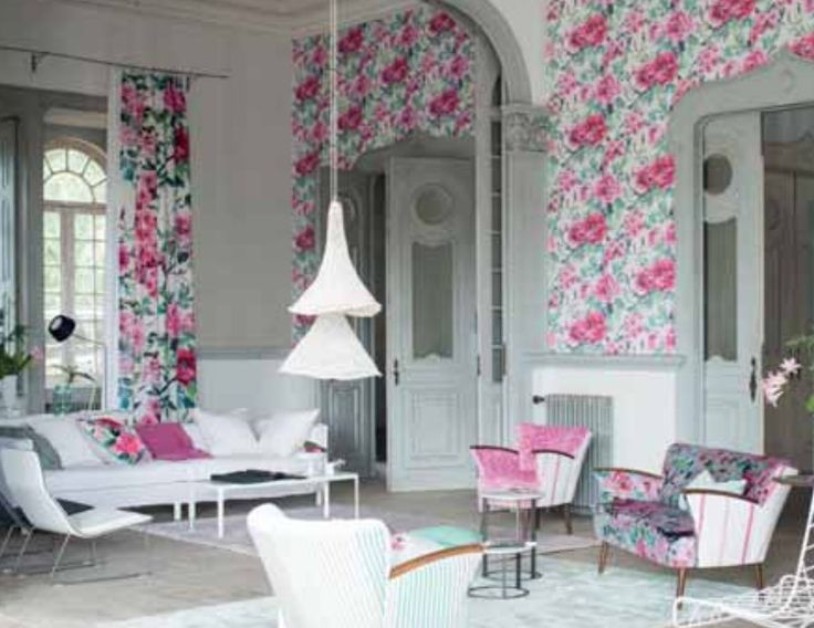 37 best telas y papeles pintados images on pinterest armchairs fabrics and floral chair - Designers guild telas ...
