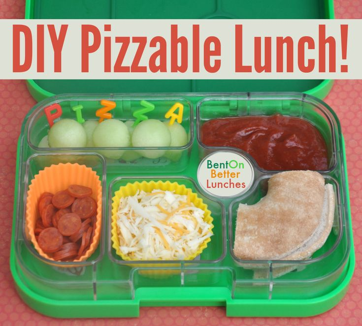 DIY Pizzable lunch in #Yumbox by Bent On @BetterLunches
