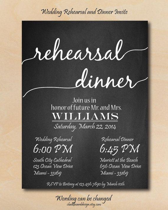 Rehearsal Dinner Invitation Printables Custom by chalkboarddesign, $14.99