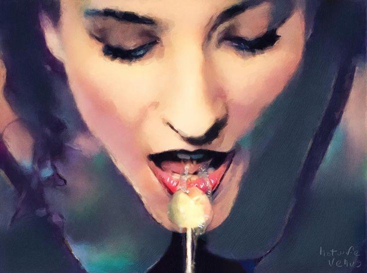 Sloppy Lolly Artwork #lollypop #candytongue #tongue #sloppy #saliva