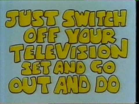 Why Don't You - Cardiff - BBC1 - 1985  Why Don't You Just Switch Off Your Television Set and Go and Do Something Less Boring Instead? (But you've got to watch the tv to get the ideas). And OMG I remember that stranger advert.