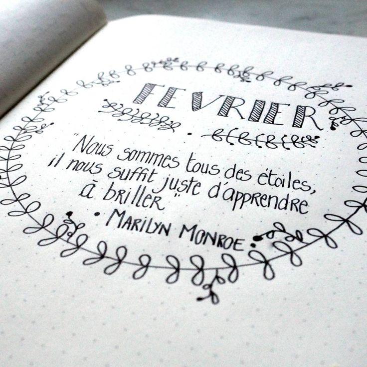 Février en préparation dans mon bullet journal avec la citation proposée pour le défi de @violette.bujo #letteritfrench ! #creeretc #bulletjournalfr #bulletjournal #bujo #bujofrance #bujofr #citation http://creeretc.com