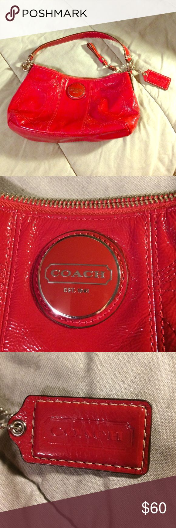 Authentic Coach clutch purse Red coach clutch purse. New without tags Coach Bags Clutches & Wristlets