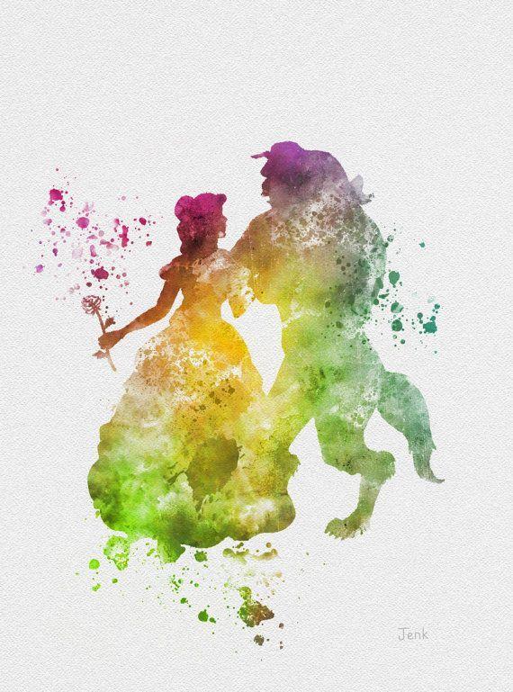 Resultado de imagem para watercolor disney