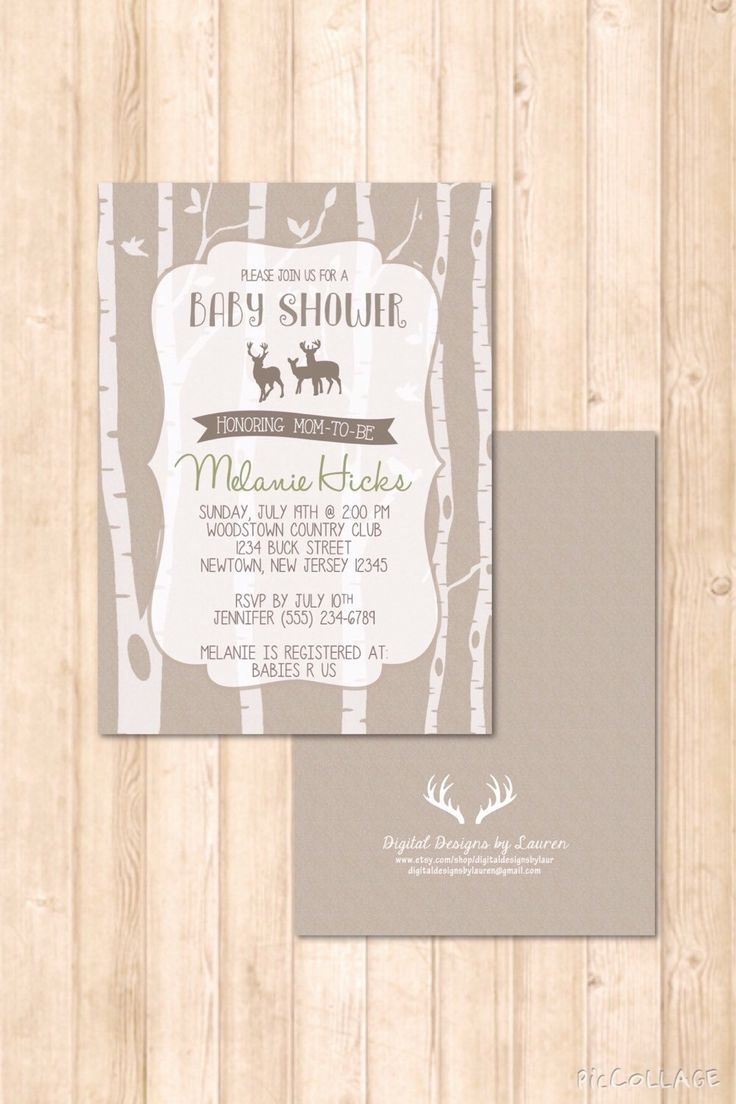 Mejores 17 imgenes de baby shower invites en pinterest deer woods buck doe themed baby shower invitation green brown print your own solutioingenieria Choice Image