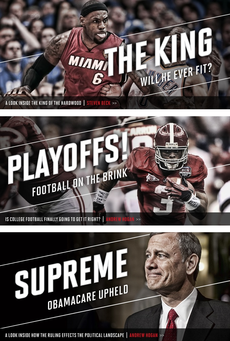 Banners AIO 2.0 by Matthew Cook | I love the way everything interacts | it graphically screams PRIME TIME SPORTS even when it's not