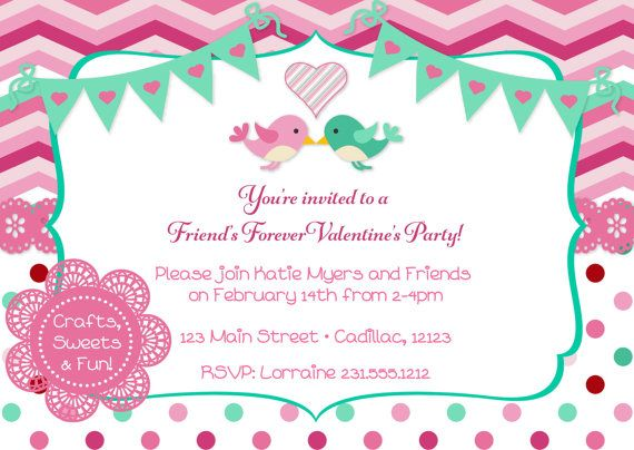 Best ValentineS Day Invitations  Party Favors For Kids And