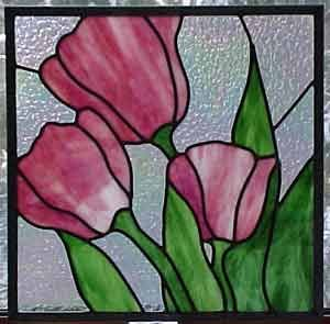 Warner Stained Glass - Online Gallery great use of beautiful glass in simple pattern