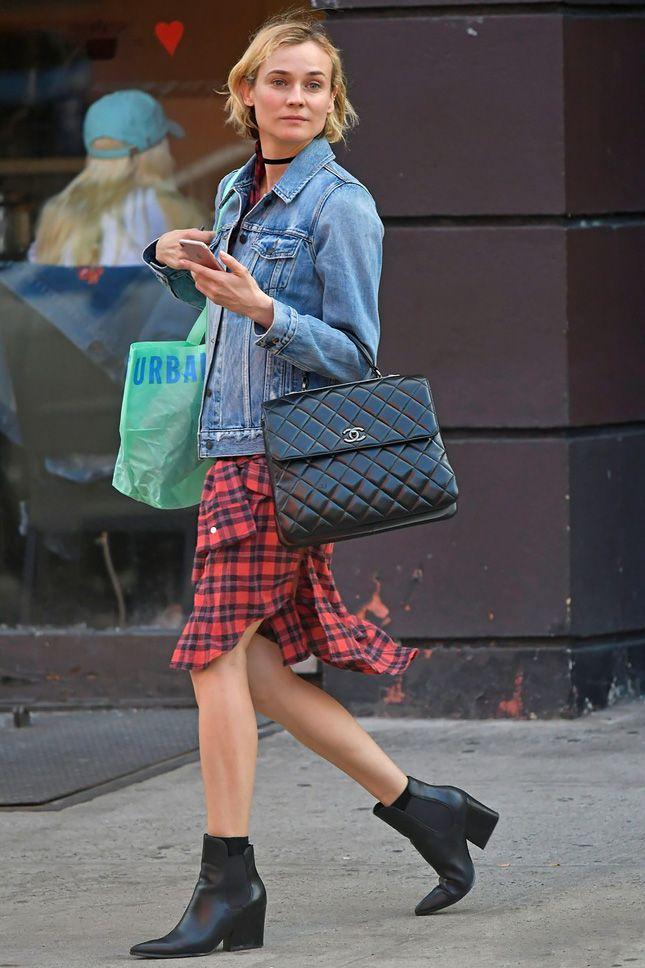 Диана Крюгер с сумкой Chanel в Нью-Йорке