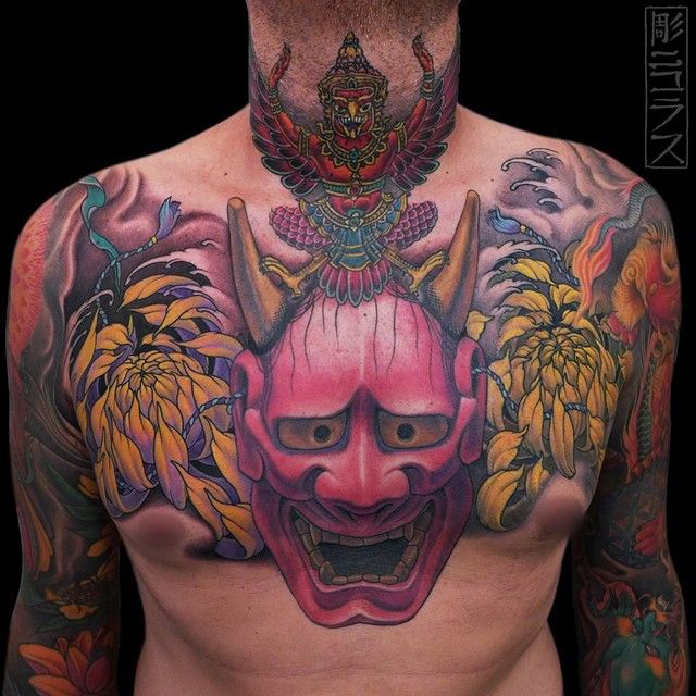 Top Free Oni Irezumi Backgrounds: Tattoos, Oni Mask Tattoo