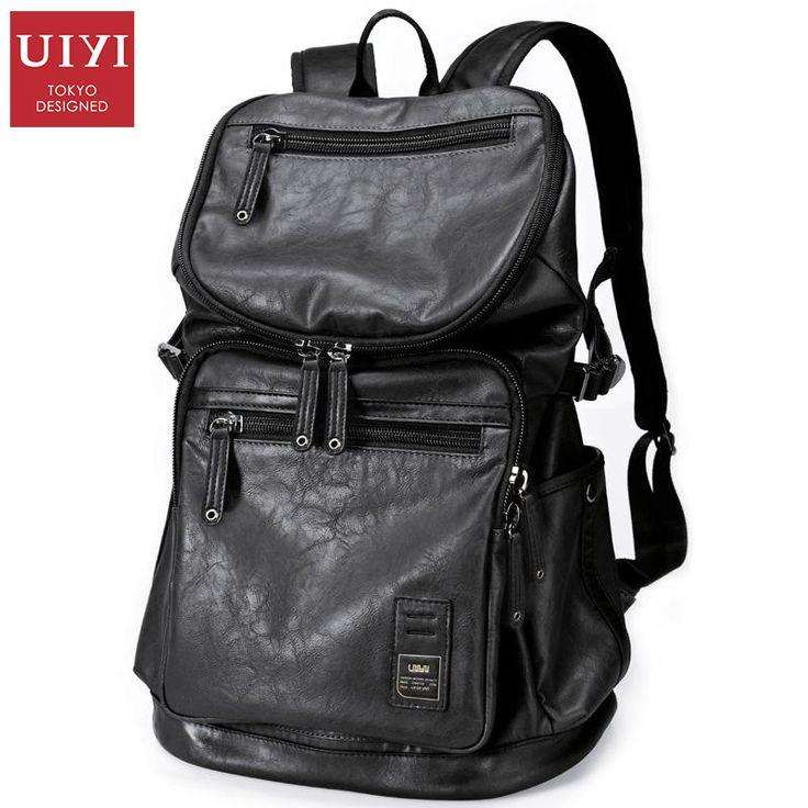 Купить товарUIYI Для мужчин рюкзак черный PU кожаная дорожная сумка Для мужчин 14 дюймовый ноутбук backbag мужской досуг высокое Ёмкость # UYB16005 в категории Рюкзакина AliExpress. UIYI Для мужчин рюкзак черный PU кожаная дорожная сумка Для мужчин 14-дюймовый ноутбук backbag мужской досуг высокое Ёмкость # UYB16005