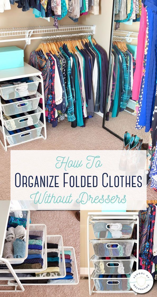 How To Organize Folded Clothes Without Dressers Diy Clothes