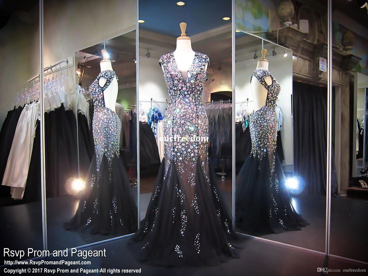 2017 Black Prom Evening Dresses Mermaid Deep V Neck Rhinestones Heavy Beaded Bare Back Cap Sleeves Formal Party Gowns Celebrity Dress Backless Evening Dresses Uk Black Evening Maxi Dress From Ourfreedom, $158.3| Dhgate.Com