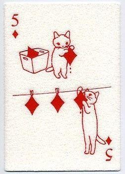 ポタリングキャット ふわふわポストカード