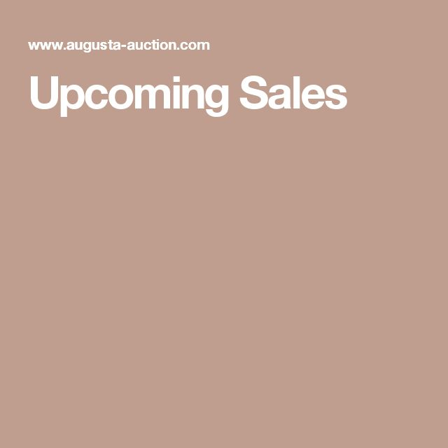 Upcoming Sales