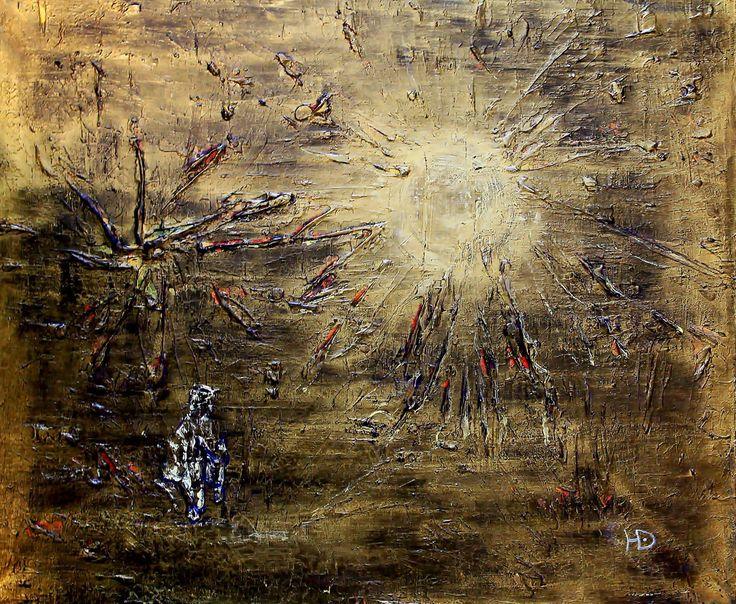 """""""Дойти до солнца"""" (""""To reach the sun""""), 50х60, акрил холст (acrylic on canvas), 2017"""