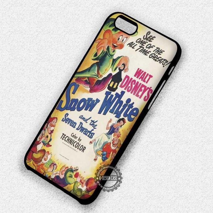 Poster Retro Snow White Seven Dwarf Disney - iPhone 8  7 6s SE Cases & Covers #cartoon #disney #snowwhite #iphonecase #phonecase #phonecover #iphone7case #iphone7 #iphone6case #iphone6 #iphone5 #iphone5case #iphone4 #iphone4case
