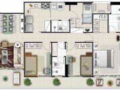 apartamento 100m2 - Pesquisa Google