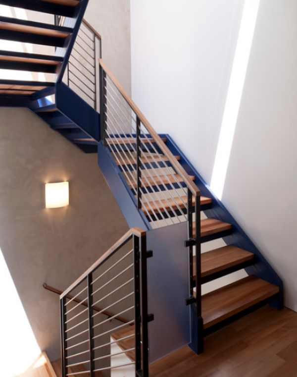 Stand Out Industrial Modern Stairs And Modern Stair Railing