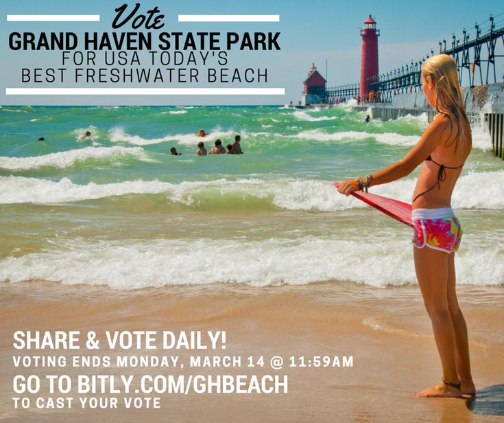 Vote for Grand Haven State Park as USA TODAY's 'Best Freshwater Beach' - help us come in at #1!