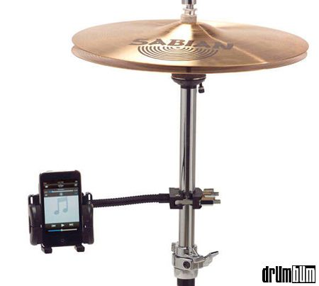iPod or iPhone Mount for Drumset -  one of the popular gifts for drummers of 2012 and 2013