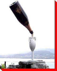 Champange Bottle and Glass - Kelowna, British Columbia