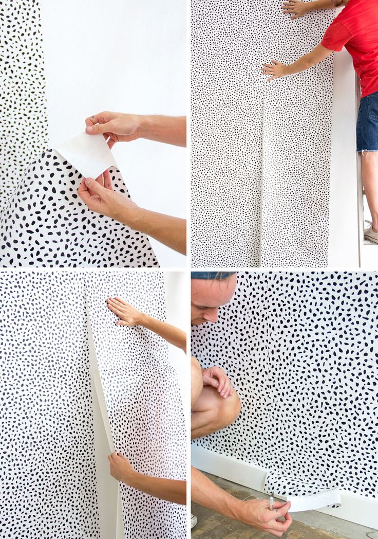 Emily Henderson - How To Put Up Temporary Wallpaper
