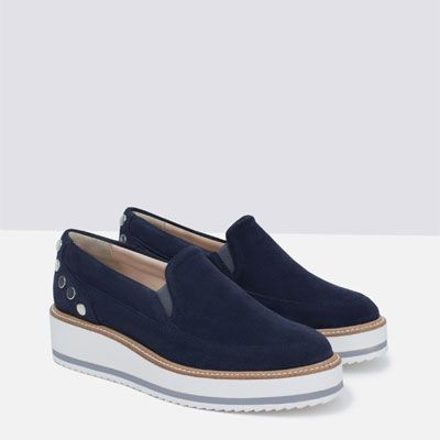 Image 5 of SUEDE PLATFORM SHOES from Zara