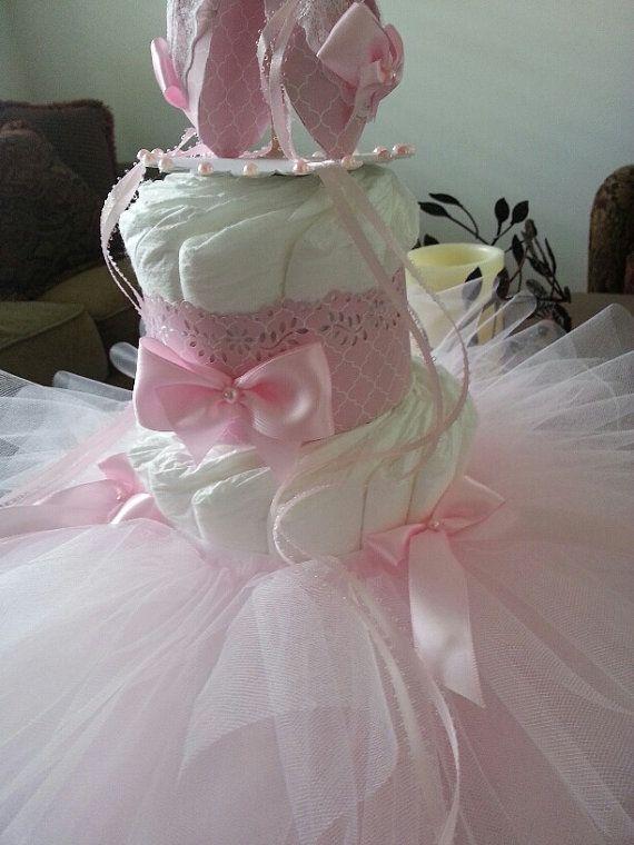 Three Tier Ballerina Diaper Cake / Ballerina by TheCarriageShoppe