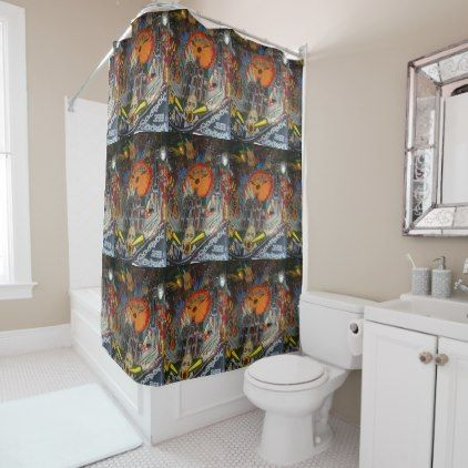 The Addams Family Pinball Game Shower Curtain - shower curtains home decor custom idea personalize bathroom