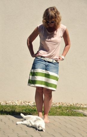 1 alte Jeans: 2 neue Jeansröcke! - Handmade Kultur