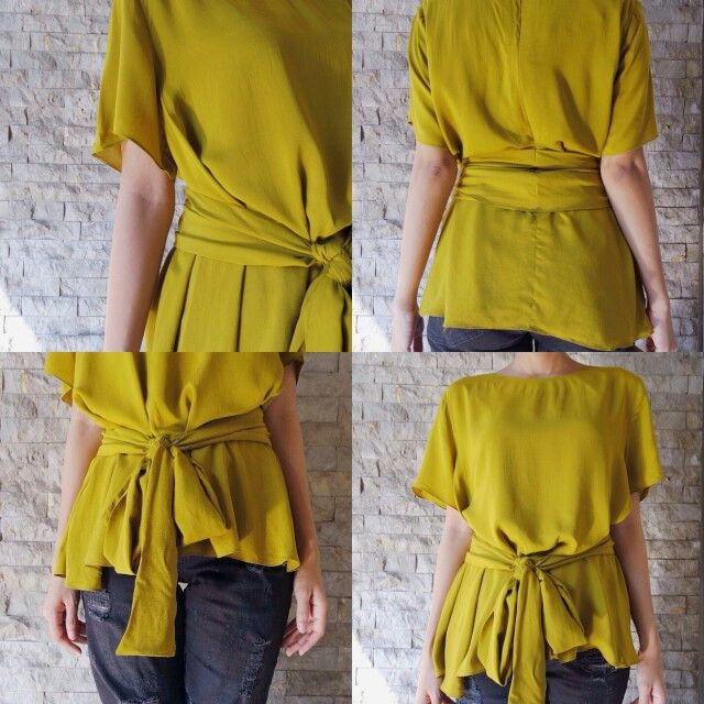 Olivia Top in Mustard - Check our Instagram @kala.id