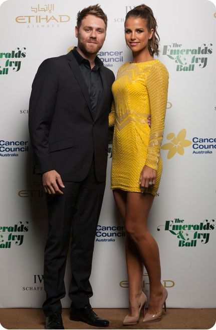 Brian McFadden and Vogue Williams supporting the Emeralds and Ivy Ball