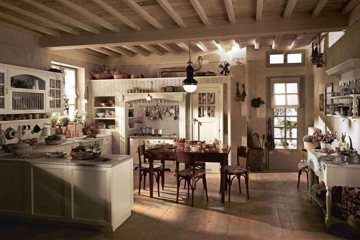 Arredare la cucina in stile country chic - Cucina accogliente