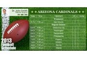 Arizona Cardinals Football Schedule Magnets